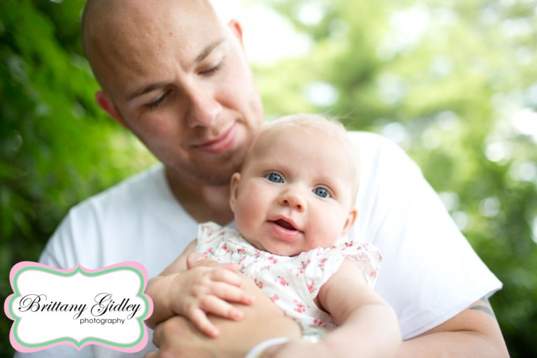 3 Month Old Baby With Dad | Brittany Gidley Photography LLC