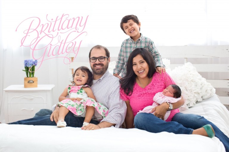 Family of 5 | Newborn Session | Brittany Gidley Photography LLC