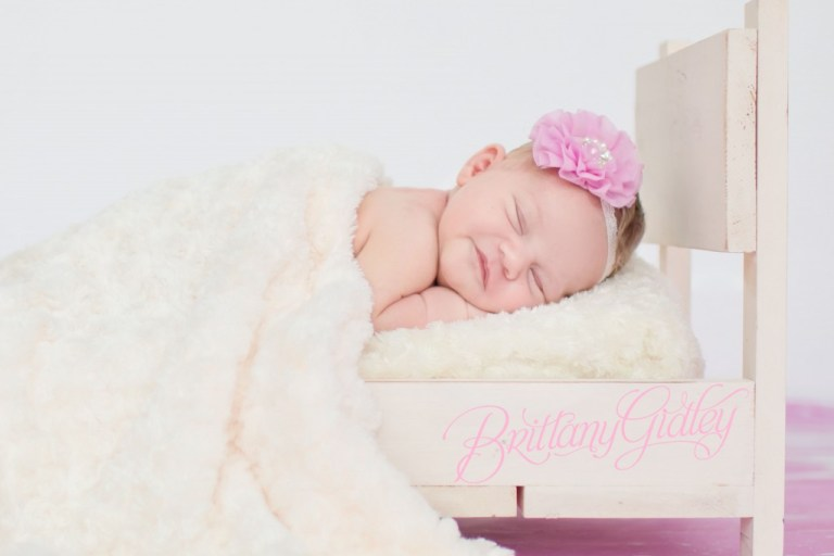 Newborn Baby | Pink & Cream | Baby Bed | Newborn Posing