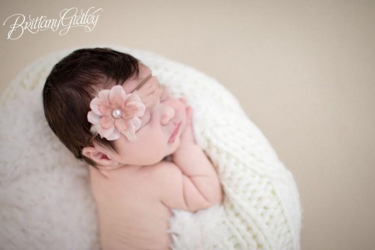 Baby Girl   Seamless   Chunk   Cream   Blush   Knits   Brittany Gidley Photography LLC   Newborn