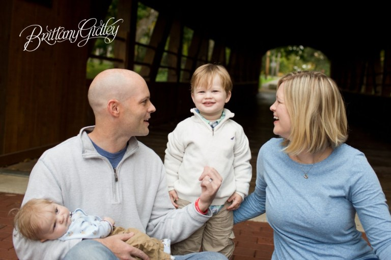 Best Family Photographer | Best Family Photography | Family | Covered Bridge | Fortier Park | Olmsted Falls, OH | Brittany Gidley Photography LLC