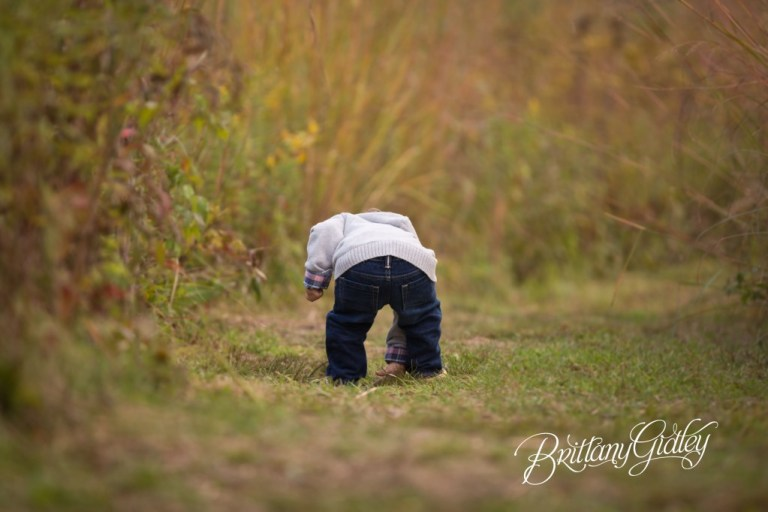 Family Fun | Fall Colors | Baby Butt | 18 Months | Autumn | Akron Ohio | Brittany Gidley Photography LLC