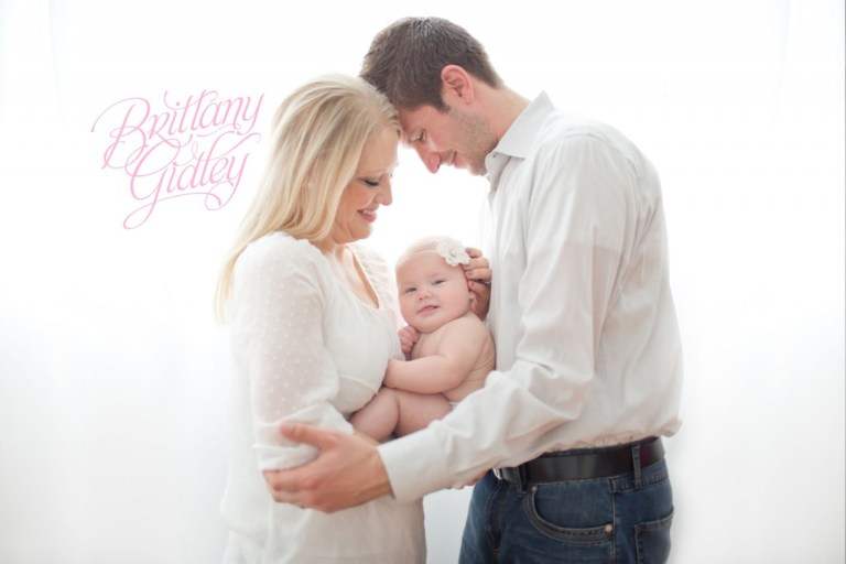 Family | Backlighting | 4 Month Old | Chunky | Sweet | Baby Girl | Brittany Gidley Photography LLC