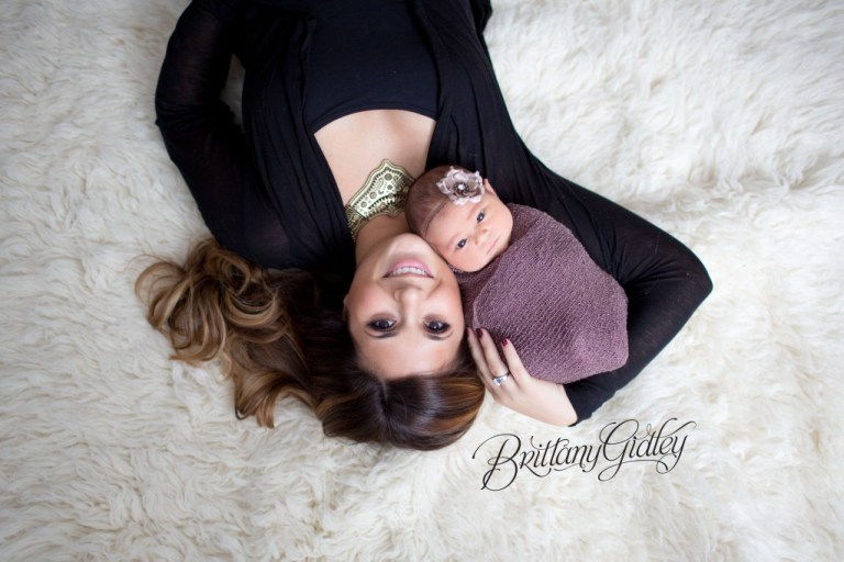 Baby with Mom | Mom Poses | Newborn Baby Girl | Newborn | Brittany Gidley Photography LLC
