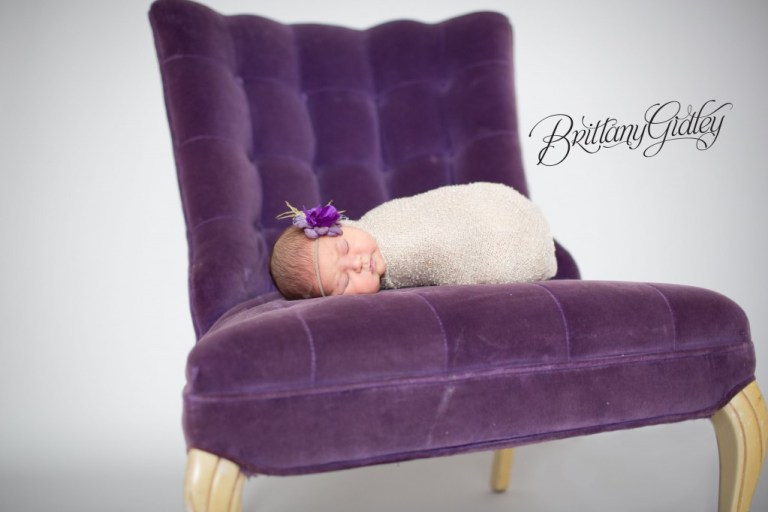 Purple | Royal | Newborn Baby Girl | Newborn | Brittany Gidley Photography LLC