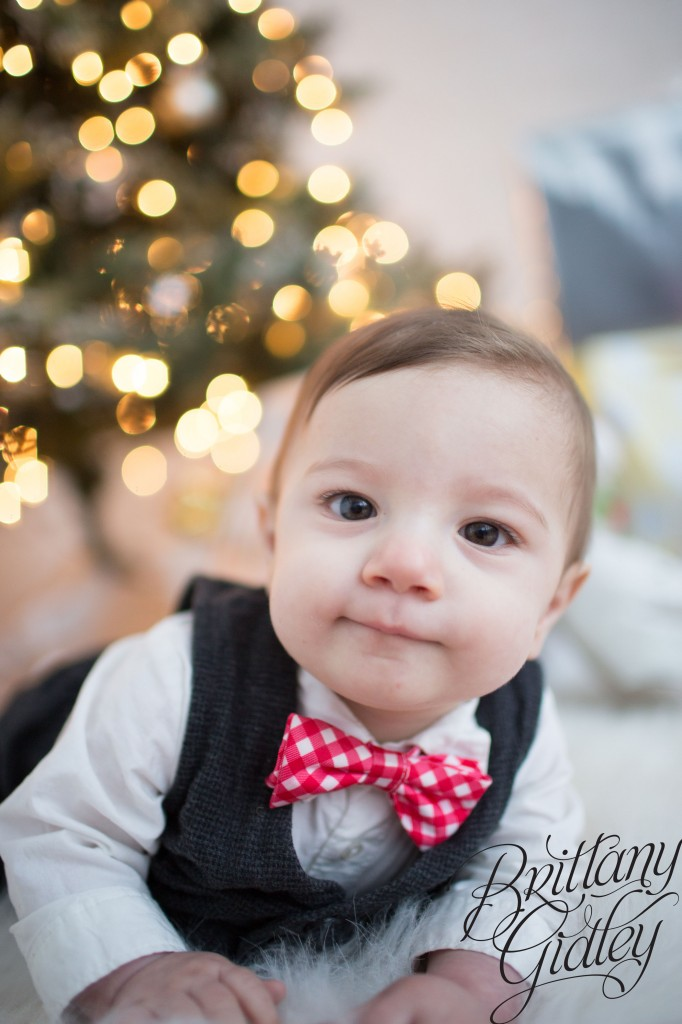 9 Month Baby | Simple | Christmas | Bokeh | Start With The Best | Brittany Gidley Photography LLC