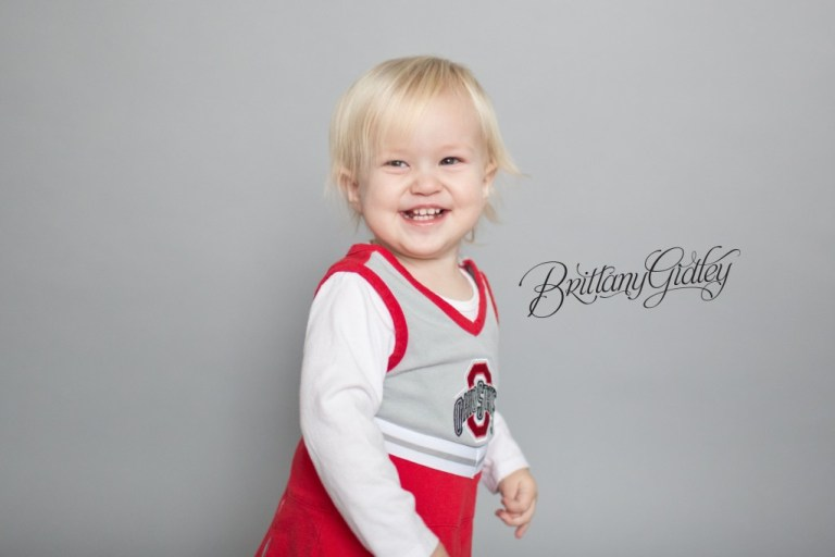 Toddler | Photography Inspiration |Ohio State | Buckeyes|  Natural Light | Studio | Brittany Gidley Photography LLC