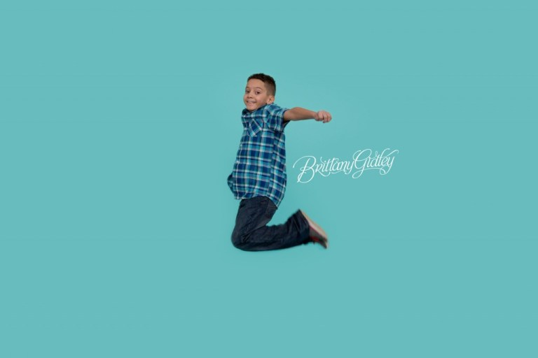 Cleveland Child Photographer | Inspiration | Jump | 10 Years Old | Seamless Paper | Child Photography