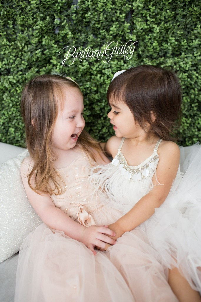 Best Friends | Pink Blush White | Studio | Inspiration | Natural Light | Brittany Gidley Photography LLC