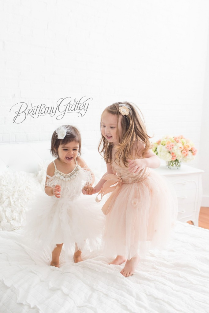 You won't believe this gorgeous best friends toddler photo shoot by Brittany Gidley Photography!  Pin now and share with your best friend later!