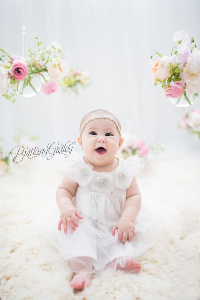 Hanging Flowers | Cleveland Ohio | Photo Shoot | 6 Month Baby | Start With The Best | Brittany Gidley Photography LLC | Cleveland's Best Baby Photographer