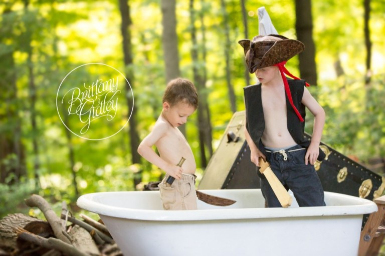 Styled Shoot | Dream Session | Pirates of the Clawfoot Tub | Antique | Cousins | Inspiration | Photo Shoot | Cleveland Ohio | Brittany Gidley Photography LLC