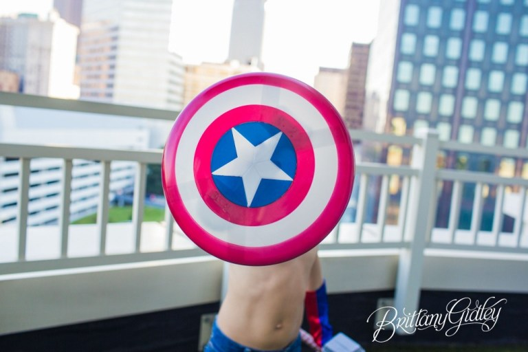 Superhero Dream Session  | Captain America | Comic Books | Marvel |  Brothers | Downtown Cleveland | Brittany Gidley Photography LLC | Avengers Photo Shoot
