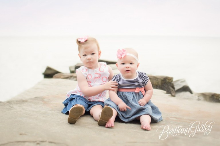 Beach | Sisters | Baby Photographer | 12 Month Baby Pictures