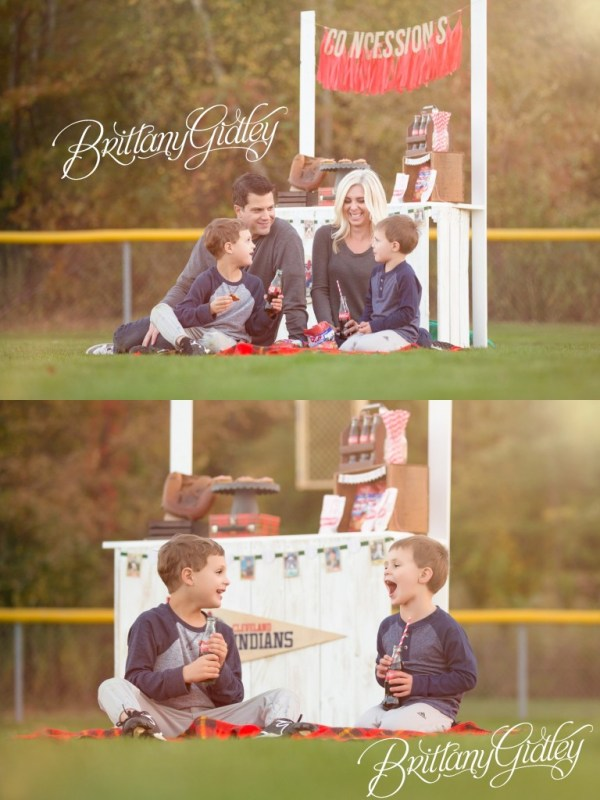 Baseball Dream Session | Concessions | Share a Coke | Family | Play Ball | Brittany Gidley Photography LLC