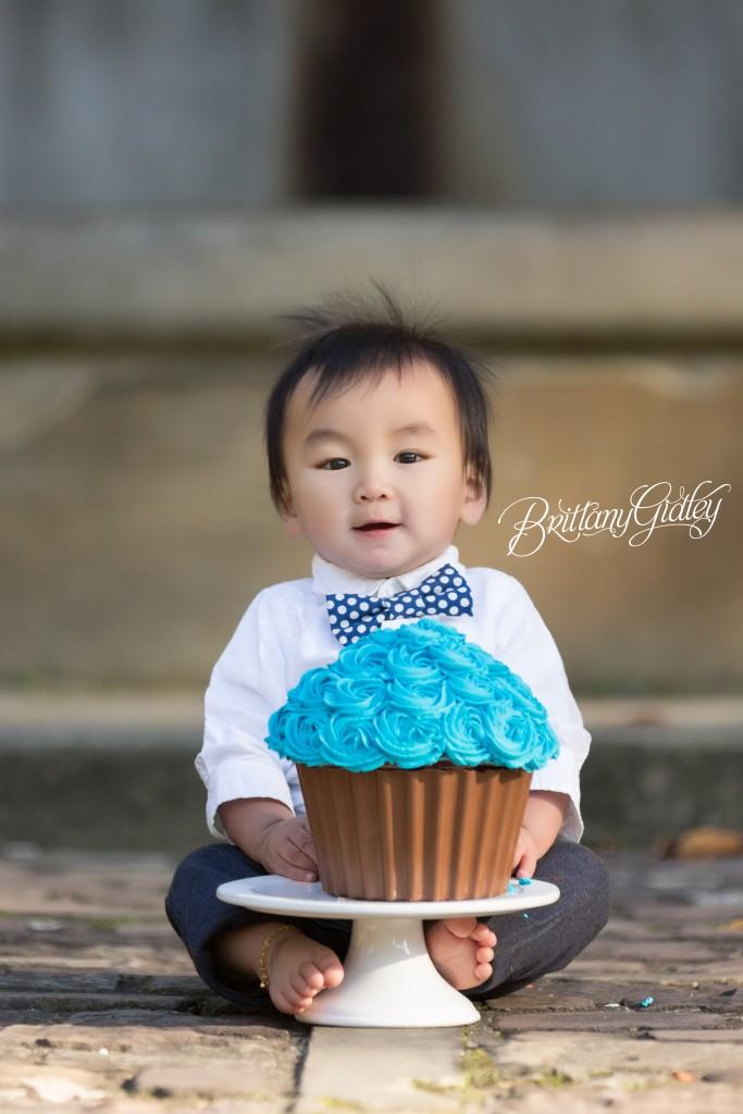 Cleveland Cultural Gardens | Italian Garden | Baby Photographer | Baby Photography | Cake Smash