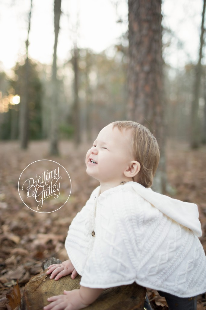 Atlanta Baby Photographer | 12 Month Baby Girl | Nature | Happy