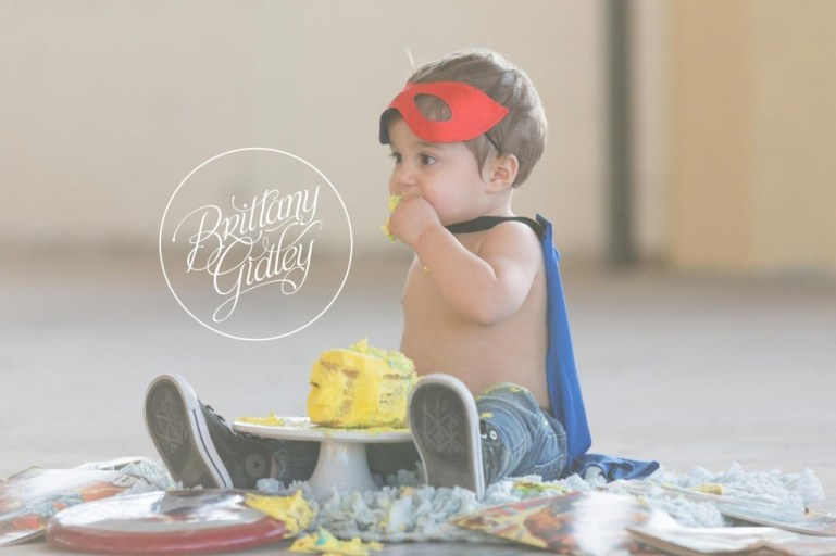 Superhero Cake Smash | Brittany Gidley Photography LLC | Start With The Best | Cleveland Baby Photographer | Baby Photography