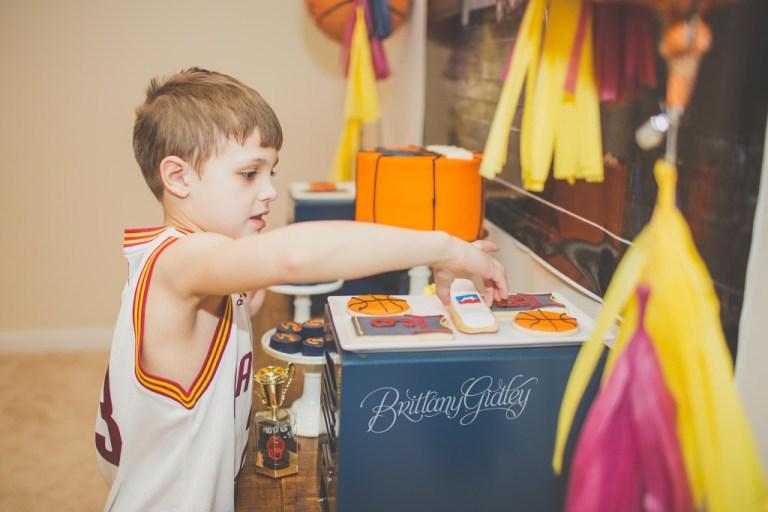 Cleveland Cavaliers Basketball | One Stylish Party | Basketball Birthday Party | Basketball Party | Cleveland Cavaliers | Kelsey Elizabeth Cakes