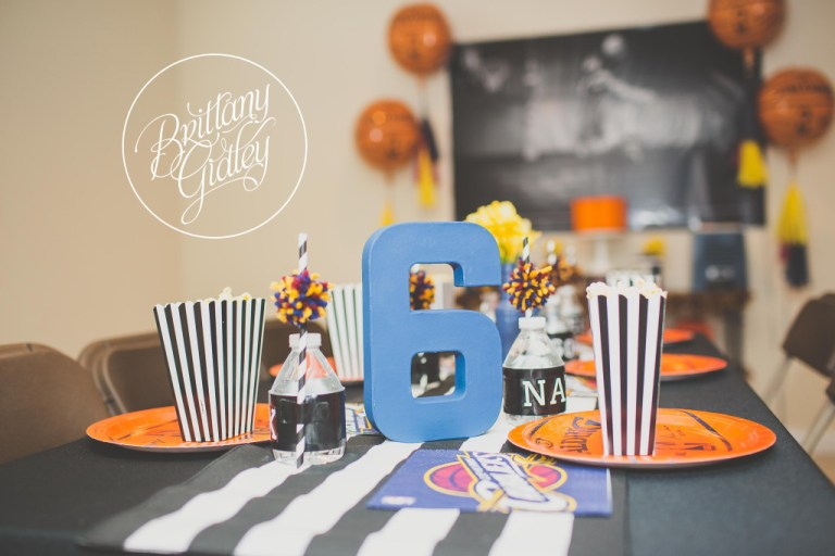 Table Decor Ideas | Basketball Birthday Party | One Stylish Party | Basketball Party | Cleveland Cavaliers