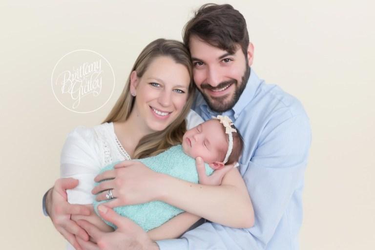 Newborn studio newborn baby girl baby photographer baby photography cleveland ohio