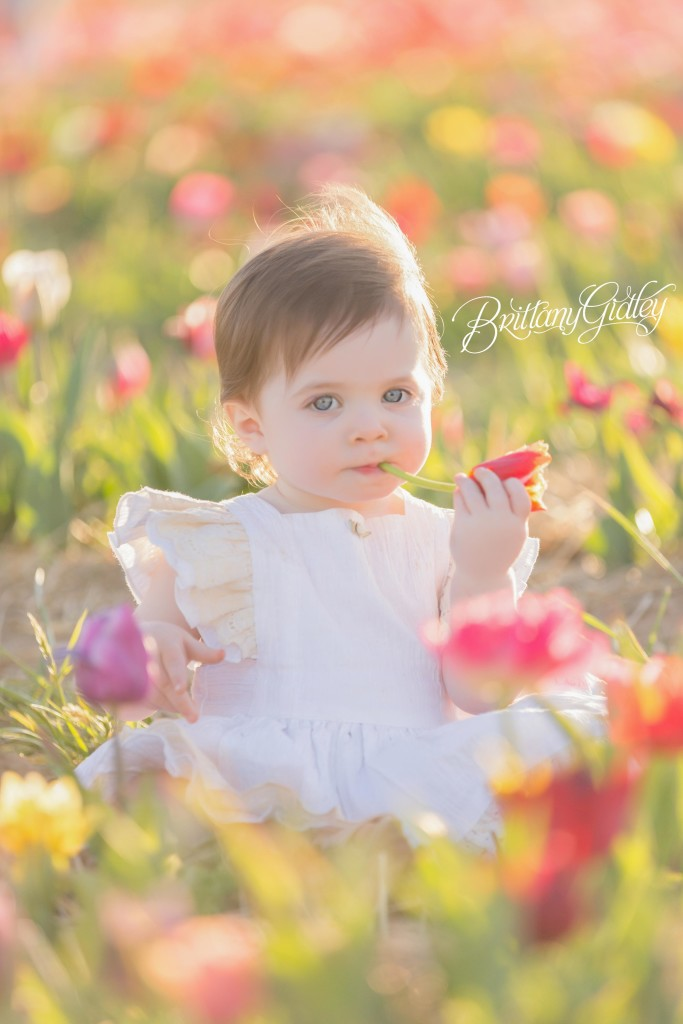 Whimsical Baby Photographer | Flower Field | Tulip Field Photo Shoot | Child Photographer | Child Photography | Styled Shoot