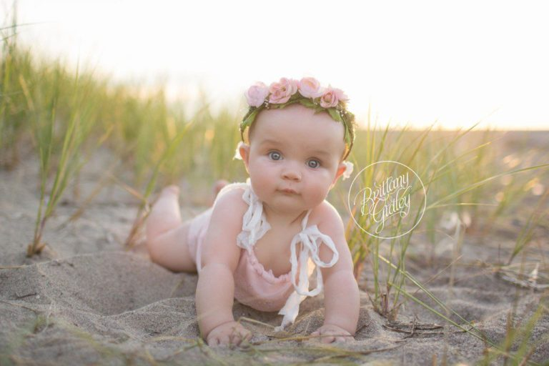 Baby Photographer | Headlands Beach | Sunset | Golden Hour