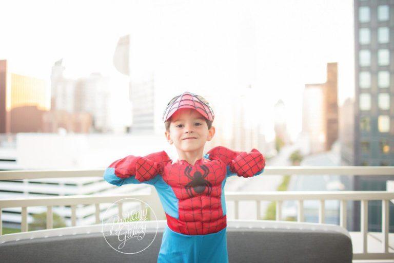 Spiderman | Superhero Training Camp | Start With The Best | Cleveland Ohio Child Photographer | Batman Photo Shoot | Spiderman Photo Shoot