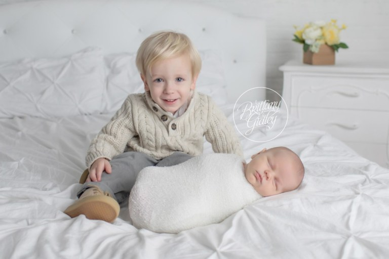 Brothers | Newborn and Sibling Pose | Brittany Gidley Photography LLC