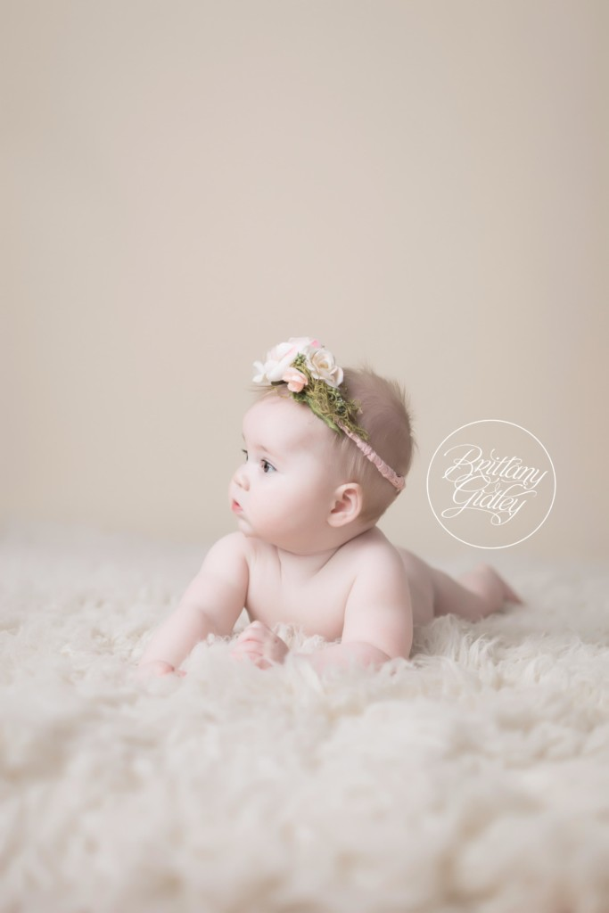 6 Month Baby Photographer | Baby Photographer | Cleveland Ohio | Start With The Best | Flower Wall | Floral Baby Images