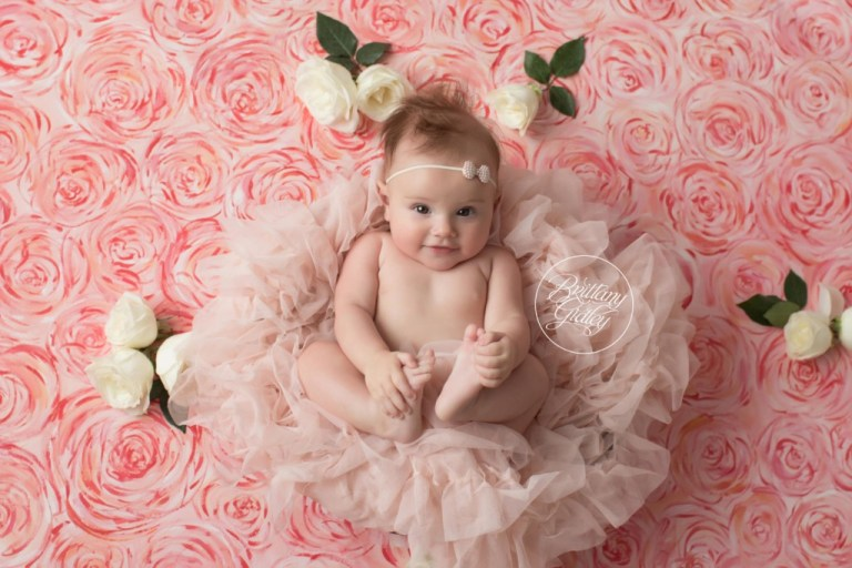 Hand Painted Backdrop | 6 Month Baby Session