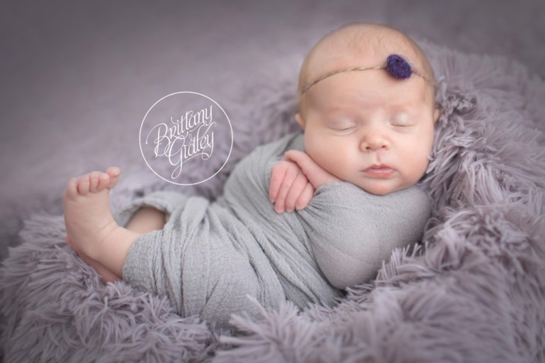 Lavender Newborn Images | Cleveland Ohio Newborn Photographer | Start With The Best | Brittany Gidley Photography