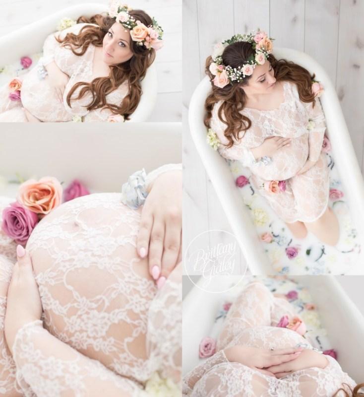 Milk Bath Maternity Photography | Milk Bath Recipe | Fresh Floral Maternity | Best Maternity Photographer