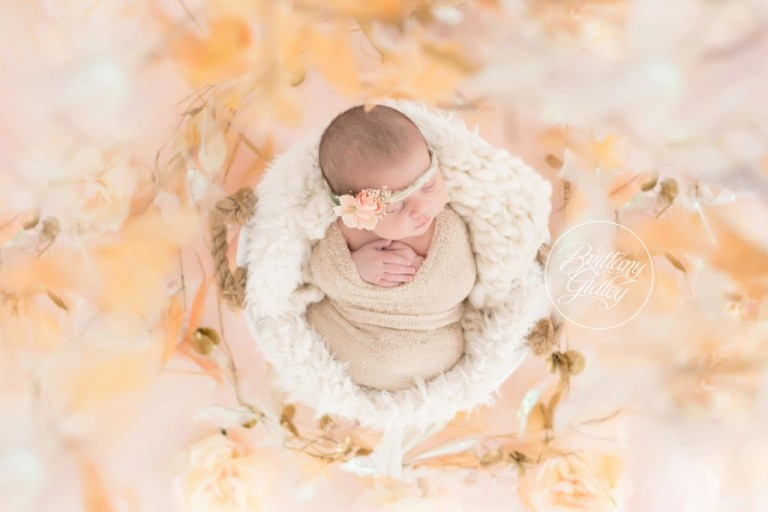 Peach Newborn Portraits | Baby Girl | Love | Start With The Best