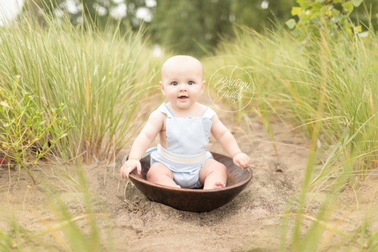 Beach Baby Photo Shoot | 6 Month Baby | Mentor Headlands Beach