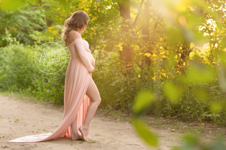 Beach Maternity | Edgewater Beach | Pregnancy Beach Pictures | Maternity Photography Inspiration | Maternity Gown | Golden Hour | Cleveland Ohio Maternity Photographer | Cleveland Ohio Pregnancy Photographer