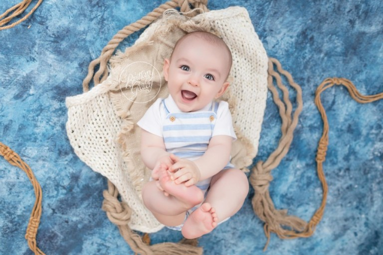 Nautical Baby Photos | Nautical Themed Baby Photo Shoot