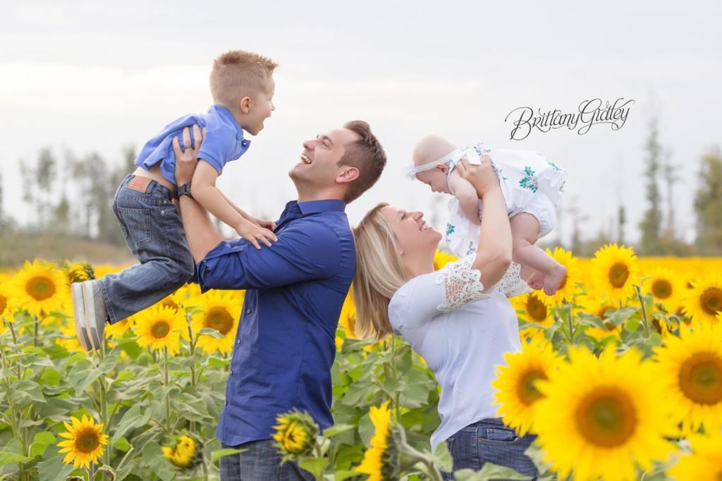 Avon Family Photographer | The Balmert Family | Prayers From Maria Sunflower Field