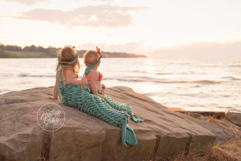 Mermaid Photo Shoot | Mermaid Dream Session | Family Photography | Family Photo Shoot | Edgewater Beach | Cleveland Ohio