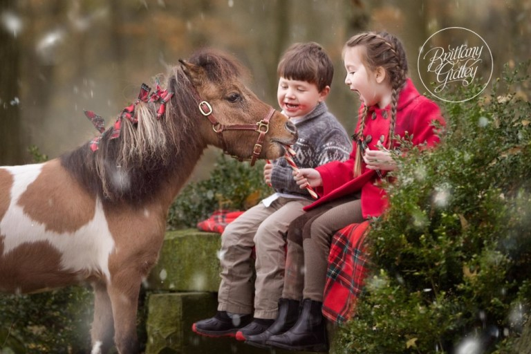 Horse Christmas Images | Candy Cane Christmas Images | Kids Christmas Photo Ideas | Brittany Gidley Photography LLC