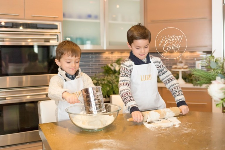 Baking Christmas Cookies With Kids | Brittany Gidley Photography LLC
