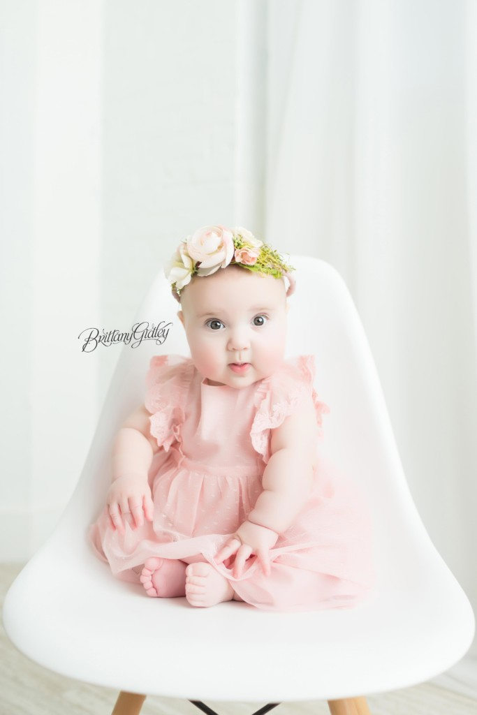 Baby Photography | Flower Crown Baby | 6 Month Old Baby Photographer