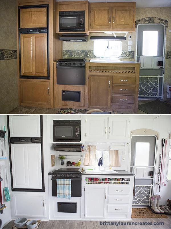 Before  After gorgeous DIY camper renovation