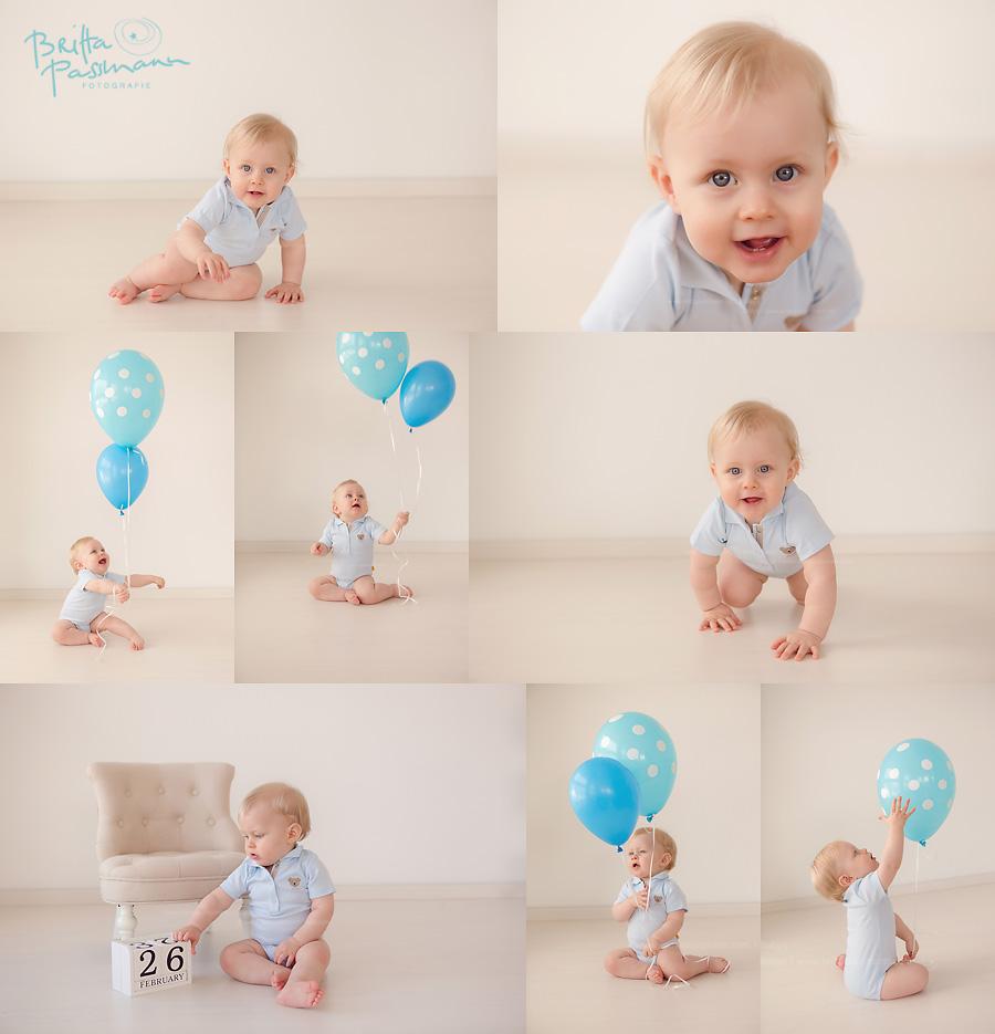Fotoshooting zum ersten Geburtstag mit Lias  Cakesmash in