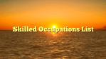 Skilled Occupations List