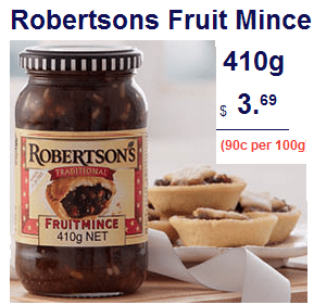 Robertsons Fruit Mince at ALDI Australia