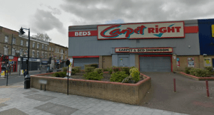 The existing Carpetright and Topps Tiles building. picture from Google Streetview