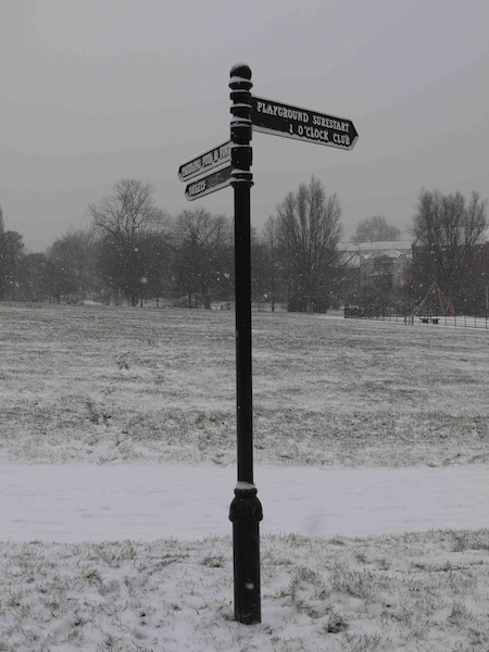 Brockwell Park in the snow. By Charlie Russell
