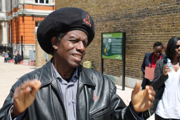 Eddy Grant in Windrush Square. Photo by Barney Evison