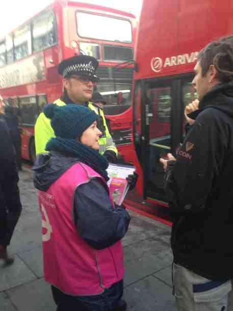 tube strike cop